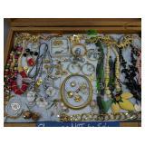 Showcase Lot Estate Costume Jewelry