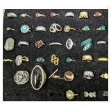 Collection Of Assorted Costume Jewelry Rings