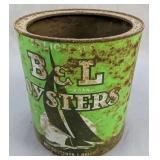 B & L Chesapeake And Tanger Oysters 1 Gallon Can