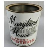 Maryland House 1 Gallon Oyster Can H. B.
