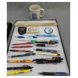 Wiley Fuel Mug, Delaware Advertising Pens, Lewes