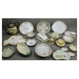 Shelf Lot Of Hand-painted Nippon Etc. Covered