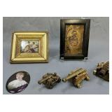 Napoleon Copper Relief, Miniature Cannons, Oval