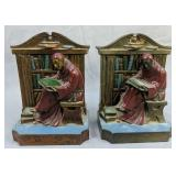 1920 L.v. Aronson Monks In Library Bookends