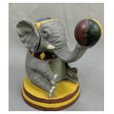 Cast Iron Circus Elephant Coin Bank