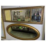 Pair Of Gold Frame Mirrors
