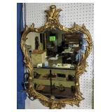 Ornate Gold Guilt Mirror 26 X 39