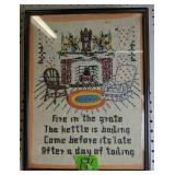 Needlepoint Fire In The Great The Kettle Is