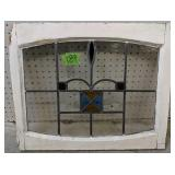 """Stained-leaded Glass Window 22.5x18"""""""
