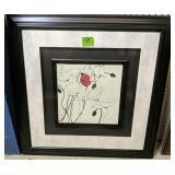 """Shirley Novak Framed Flower Print 27x27"""""""