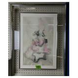 """Lazlo Dus Framed Modern Art Lithograph 23.5x31"""""""