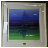"""Signed Numbered Vasarely Modern Art 36x36"""""""