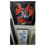 Acrylic On Canvas Superhero Painting, Flower