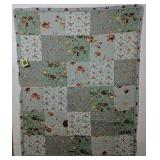 """50x62"""" Floral Roses Bed Cover"""
