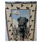 "Duck Hunting Dog Throw Blanket 46x68"""