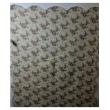 """Sahara Club Roses Quilted Bed Cover 51x61"""""""