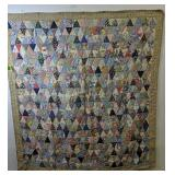 """Patchwork Triangles Quilt 71x80"""""""