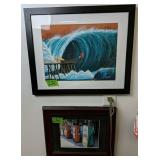 Rick Romano Surfers Jumping Off Pier Print,