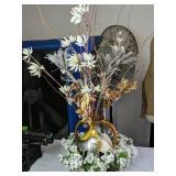 Decorative Vase With Faux Flowers