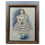 Lucille Person Watercolor Girl In Dress Rehoboth