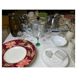 Aluminum Ice Bucket, Margarita Glasses, Serving
