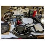 Small Kitchen Appliances, Pots Pans, Flatware Etc