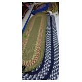 Assortment Of Oval Woven Rugs