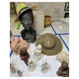 Plaster Bust, Rabbit Garden Figurine, Willow T