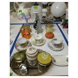 Art Glass Vase, Lamp, Glass Christmas Tree, Cups