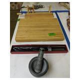 Calphalon Cutting Board, Carvel Hall Knife,