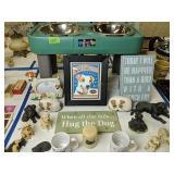 Raised Dog Bowl, Dog Figurines, Mugs Etc