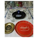 Glass Beer Pitchers, Beer Trays, The Great Seal