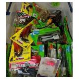 Plastic Storage Container With Fishing Tackle