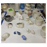 Pig Coin Bank, Figurines, Mugs, Cast Iron Bank,