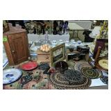 Country Items. Braided Rugs, Eldreth Pottery Pie