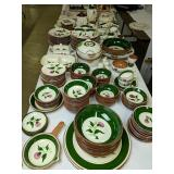 Table Lot Stangl Pottery Thistle Dishes, Bowls,