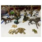 Dog Figurines, Horse, Frogs Etc