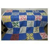 """Vintage Hand Stitched Quilt 76x76"""""""