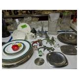 Aluminum Plates, Silver Plate, Candle Holders,