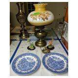 Churchill Plates, Hummingbird Figurines, Lamp