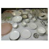 Corningware, Dishes, Pink Depression Glass Etc