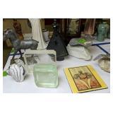 Art Glass Animal, Horse, Modernist Bird And