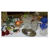 Waterford Lamp Base, Bowl, Cover Jar, Art Glass,