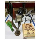 Pottery Bust, Brass Eagle, Gone With The Wind