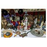 Indian Dolls, Santa Clara Pottery Vase, Acoma