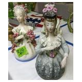 Three Porcelain Victorian Lady Figurines