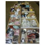 Table Lot Jewelry Making Supplies. Sterling