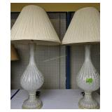 Pair Of Glass With Gold Bubbles Table Lamps
