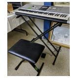 Yamaha Psr E323 Electronic Keyboard With Stand