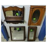 Four Decorative Wall Mirrors